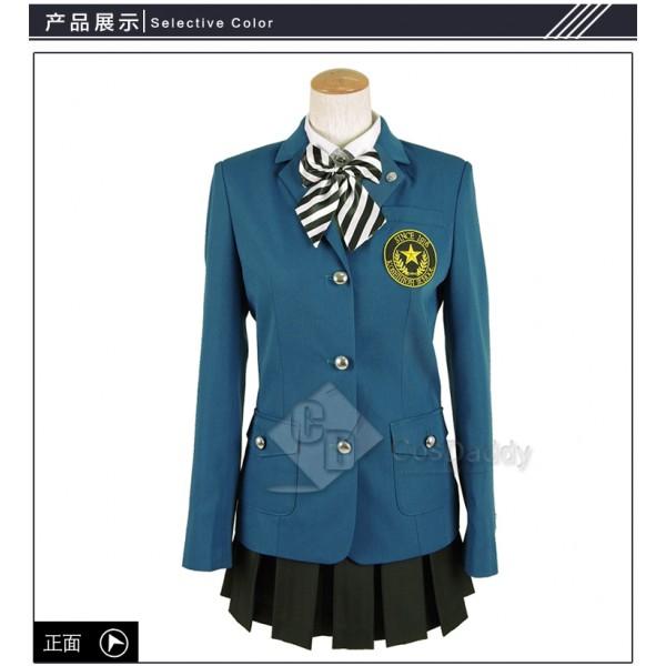 Cosdaddy Persona 5 Cosplay Green School Uniform Co...