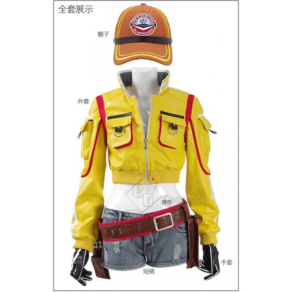 Cosdaddy Final Fantasy Cindy Cosplay Costume Jacke...