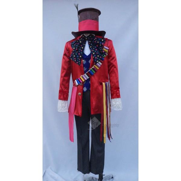 Alice in Wonderland 2 Mad Hatter Full Set Cosplay Costume