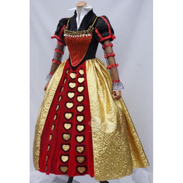 Alice  in Wonderland 2 The Red Queen Iracebeth Cosplay Dress