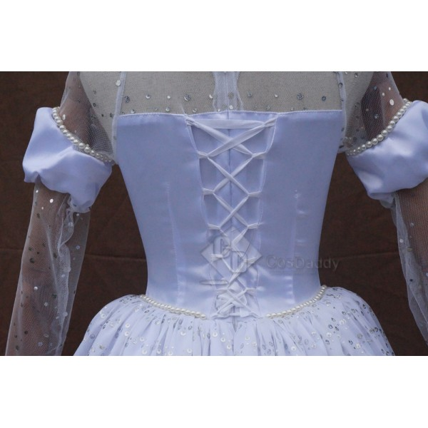 Alice in Wonderland 2 The White Queen Mirana Cosplay Dress Costume