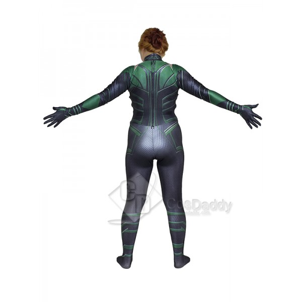 Cosdaddy Thor 3 Hela Cosplay Black Costume Jumpsuit