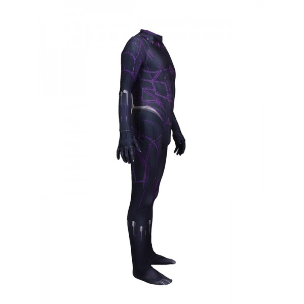 Cosdaddy Black Panther T'Challa Cosplay Black Jumpsuit Costume