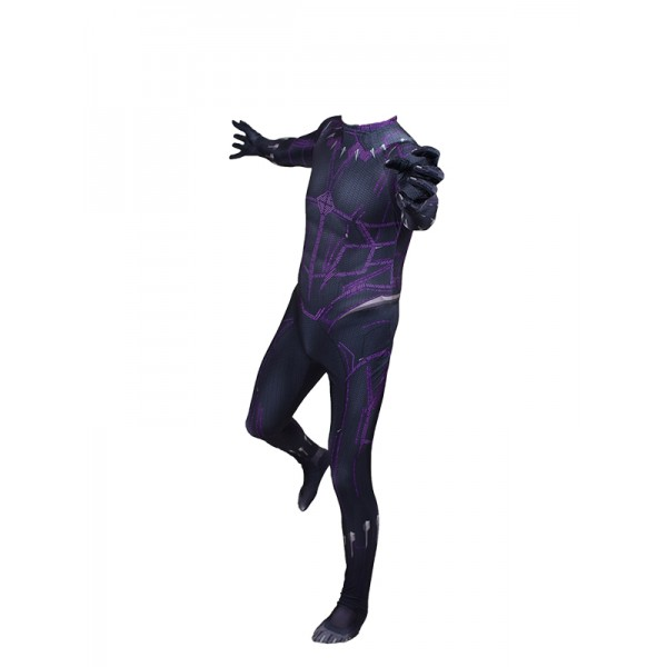 Cosdaddy Black Panther T'Challa Cosplay Black Jump...