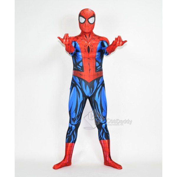 Cosdaddy Spider-man Cosplay Red Costume Jumpsuit