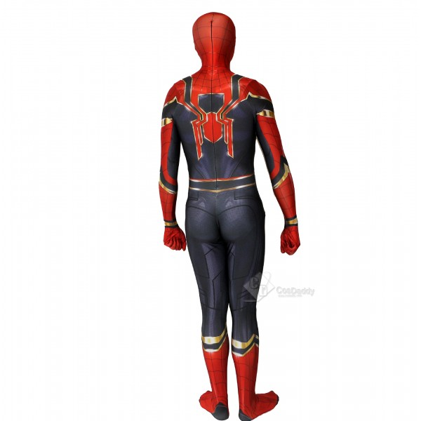 Spider-man Iron Spider Peter Park Cosplay  Costume