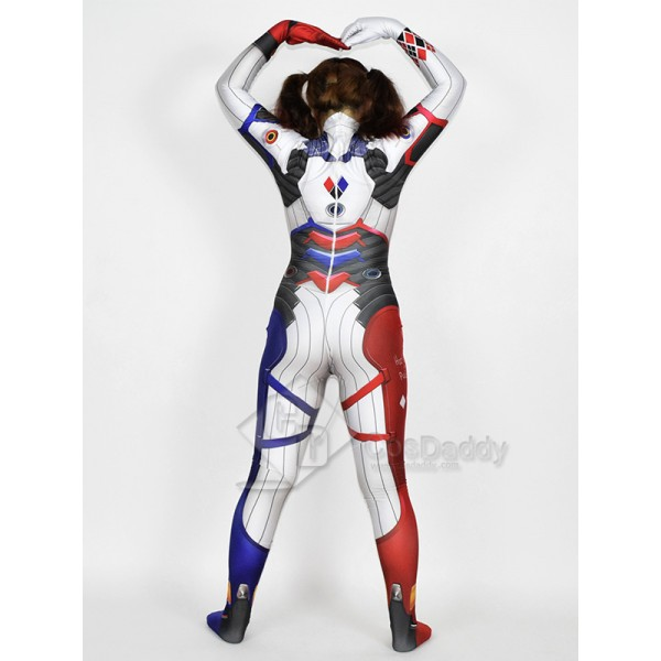 Cosdaddy Harley Quinn DVA Cosplay Costume Jumpsuit