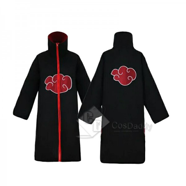 Naruto Akatsuki Itachi Uchiha Cosplay Costume Cape(Unhooded Version)