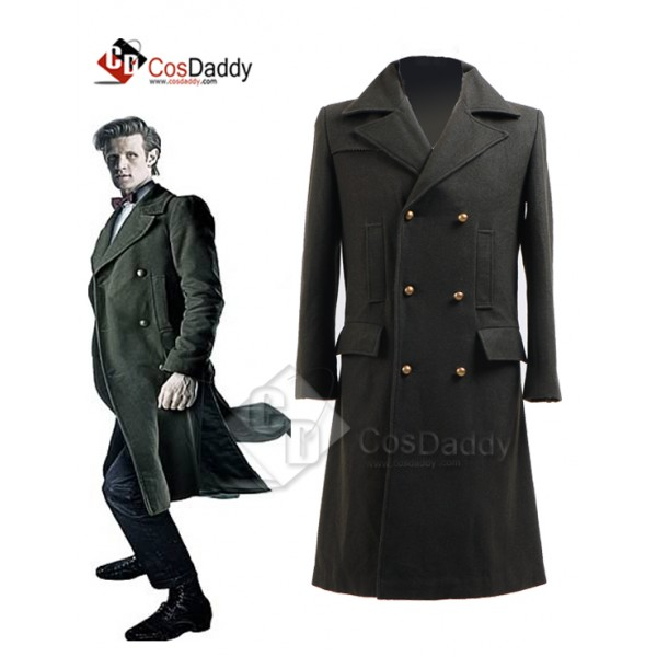 Doctor Who Eleventh 11th Doctor Green Wool  Coat C...
