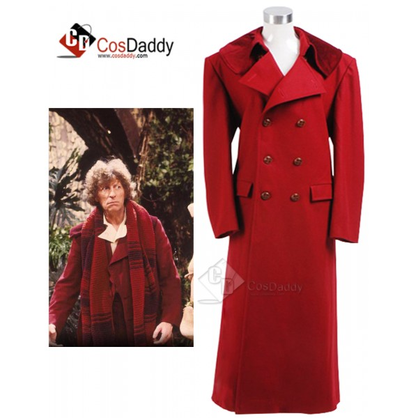 Doctor Who fourth 4th Doctor Dark Red Long Trench ...