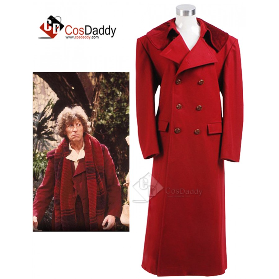 We Make Doctor For Who The Fourth 4th Dr.Wenge Costume Long Coat Halloween New