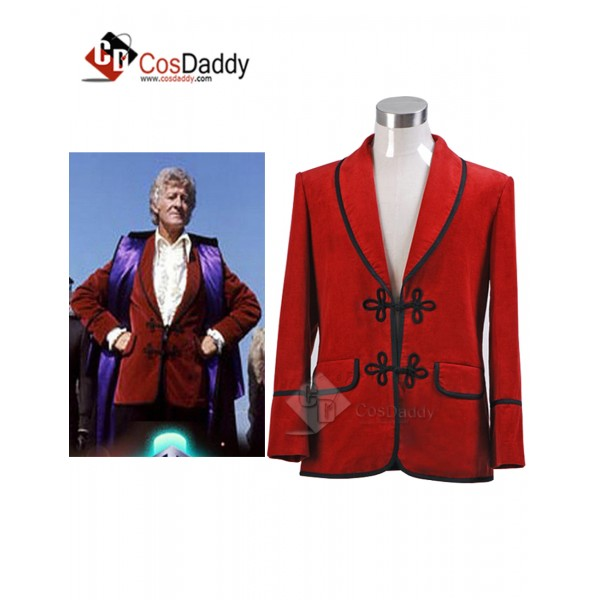 Doctor Who Third 3th Doctor Red Corduroy Jacket Co...