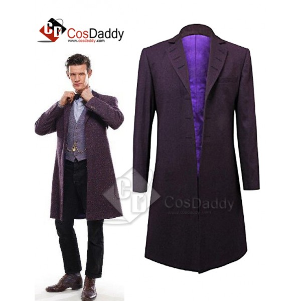 Doctor Who Eleventh 11th Doctor Buttonless Purple ...