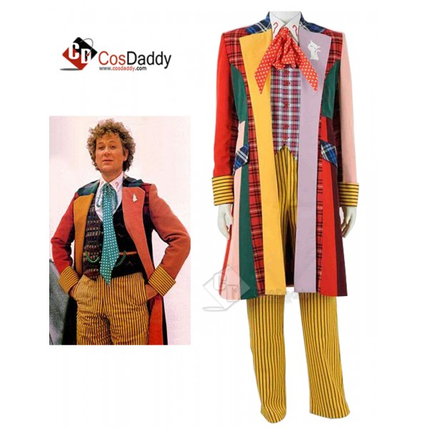 Doctor Who sixth 6th Doctor Colorful Lattice Jacke...