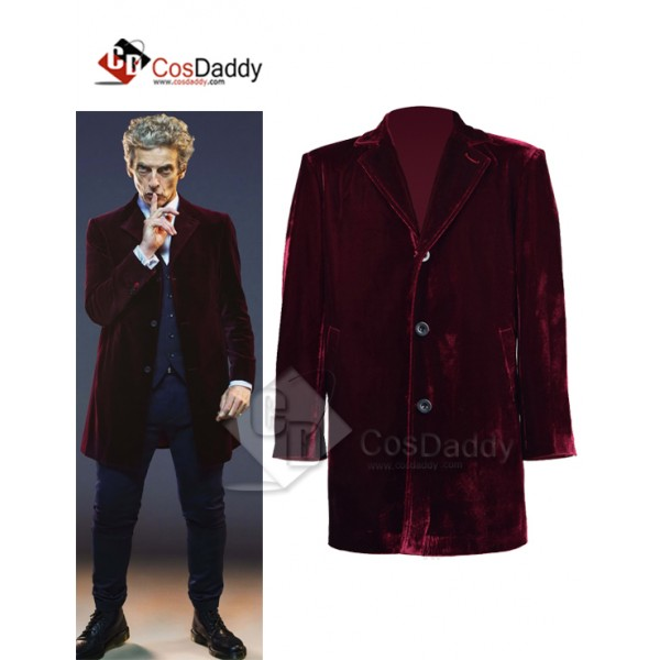 Doctor Who Twelfth 12th Dr. Coat Velvet Cosplay Costume