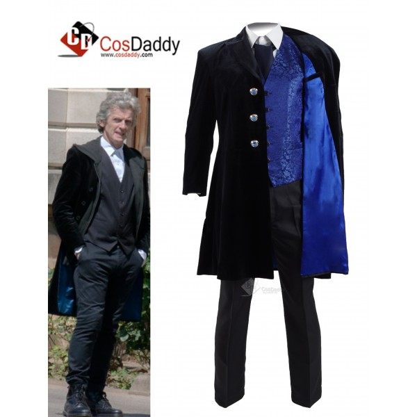 12th Doctor Velvet Coat Full Set Doctor Who Christ...