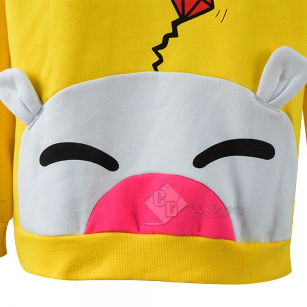 Final Fantasy Moogle Chocobo Pullover Hoodie Sweatshirt Adult Halloween Cospaly Costume
