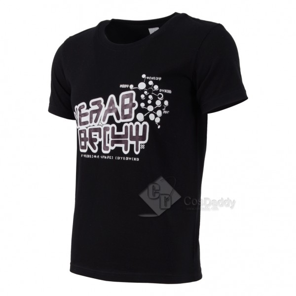 Guardians of the Galaxy Black White Round Neck T-shirt.