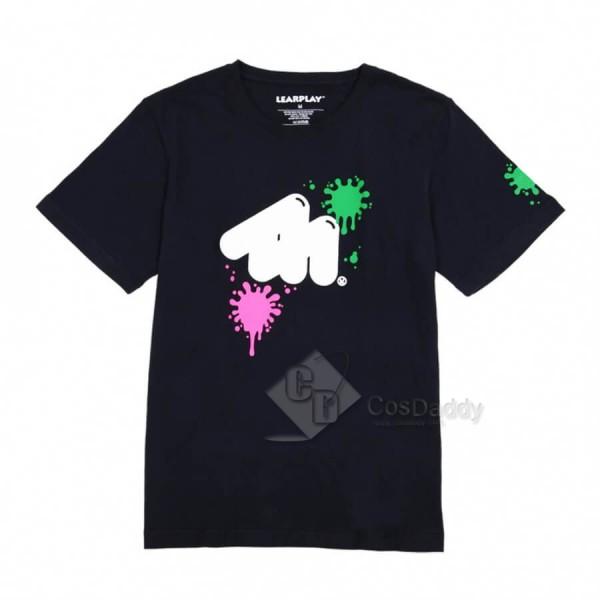 Nintendo Switch Shooting Game Splatoon 2 Hot Black T-shirt
