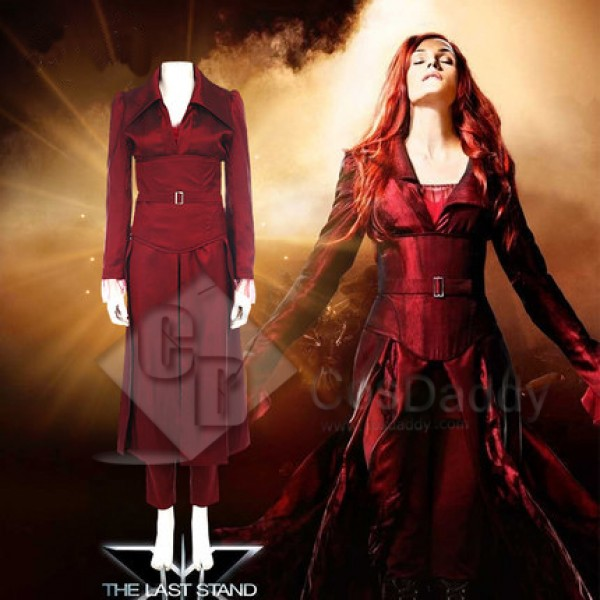 x-man Phoenix Jean Grey-Summers Cosplay red long dress full set costume