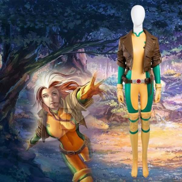 x-man Rogue Anna Marie Cosplay uniform body jumpsu...