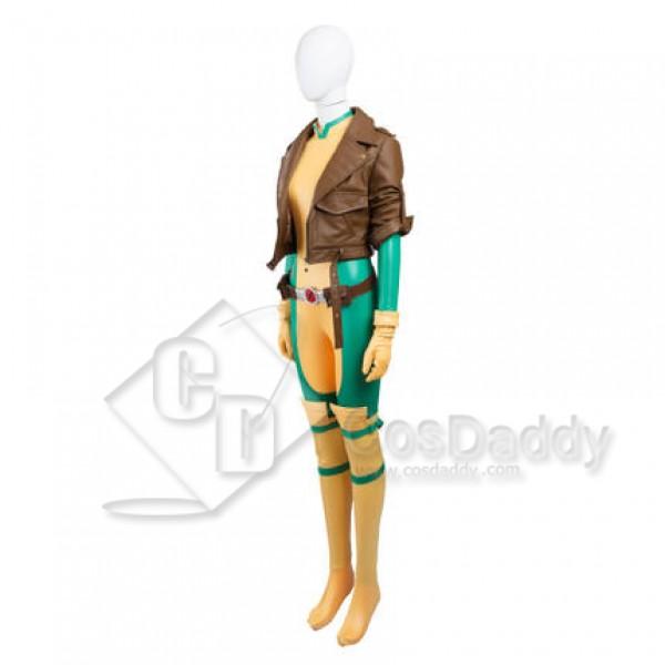 x-man Rogue Anna Marie Cosplay uniform body jumpsuit costume