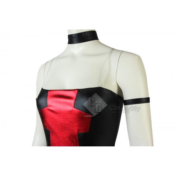 Deadpool Girl's Bare Shoulders Dressing Sexy Outfit Cosplay Costume