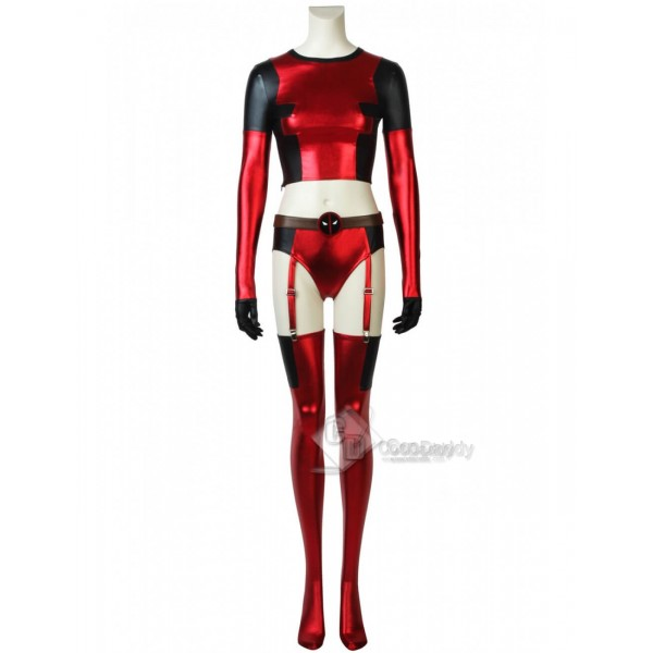 Deadpool Girl's Sexy Dressing Round Neck Outfit ...