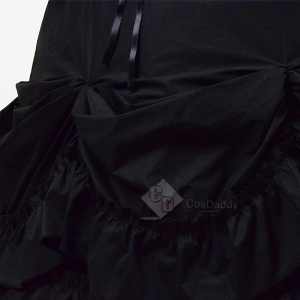 Cheap Black Gothic Lolita Dress Cosplay Costume For Sale