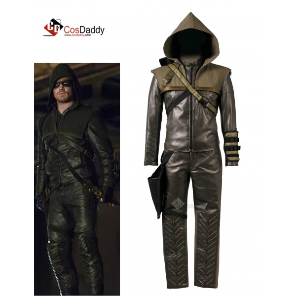 Arrow Season 3 Oliver Queen Green Arrow  Cosplay C...