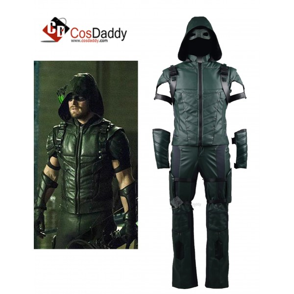 Arrow Season 4 Green Arrow Oliver Queen Cosplay Co...