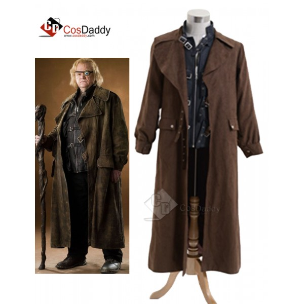 Harry Potter Alastor Moody Mad-Eye Trench Coat Ves...