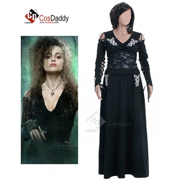Harry Potter Bellatrix Lestrange Black Dress Cospl...