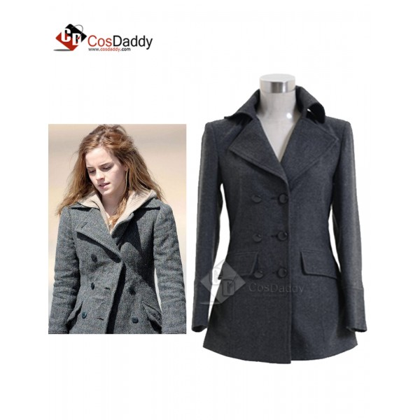 Harry Potter Hermione Granger Grey Coat Cosplay Co...