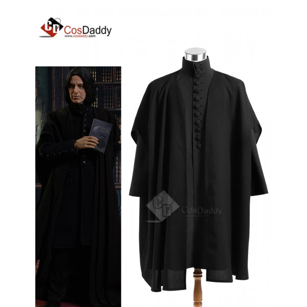Harry Potter Severus Snape Coat Black Version Cosp...