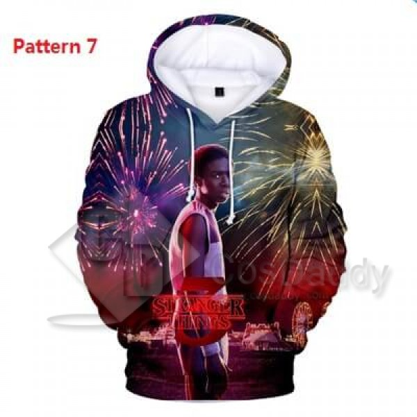 Stranger Things Hoodie Sweatshirts 3D Printed Jacket For Adult Kids