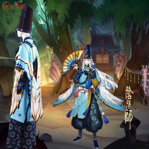 CosDaddy Onmyoji SEIMEI  Sama Cosplay costume Purple&Blue Full Set