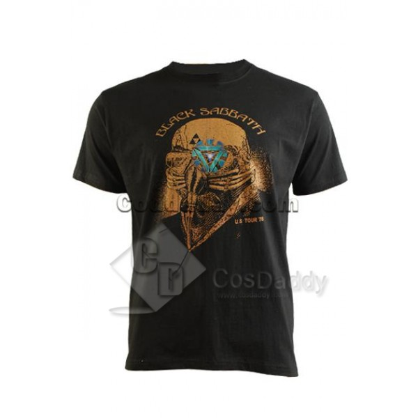 The Avengers Black Sabbath Iron Man Tony Stark T-S...