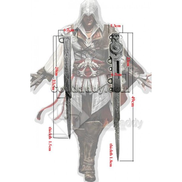 Assassin's Creed 2 II Ezio Auditore Daggers Cospla...