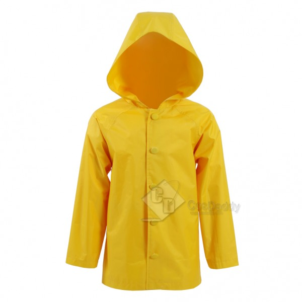2017 New Stephen King's It Georgie Denbrough Yellow Raincoat Jacket  Cosplay Costume