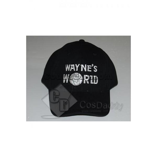 Wayne's World Cap Wayne Campbell Black Hat