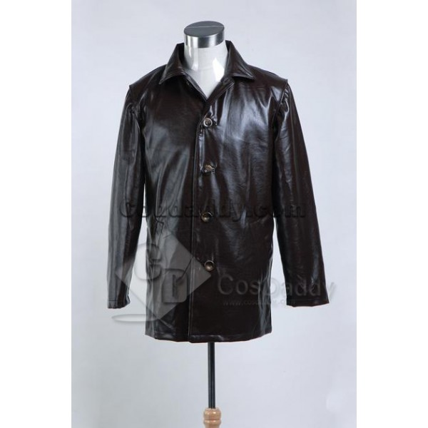 Supernatural Dean Winchester Pleather Jacket Coat Cosplay Costume