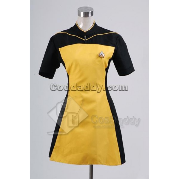 Star Trek TNG The Next Generation Yellow Skant Uni...