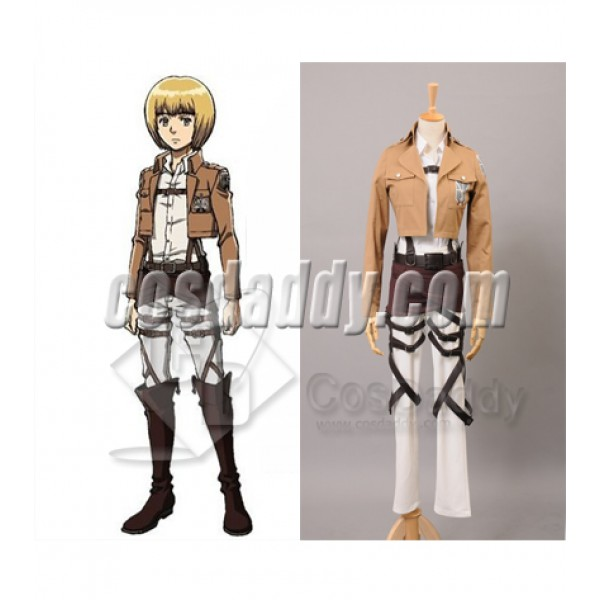 Attack on Titan Shingeki no Kyojin Training Corps Armin Arlart Cosplay Costume
