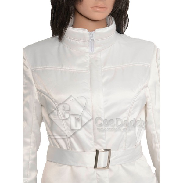Star Wars A New Hope Princess Leia Organa White Jumpsuit Cosplay Costume