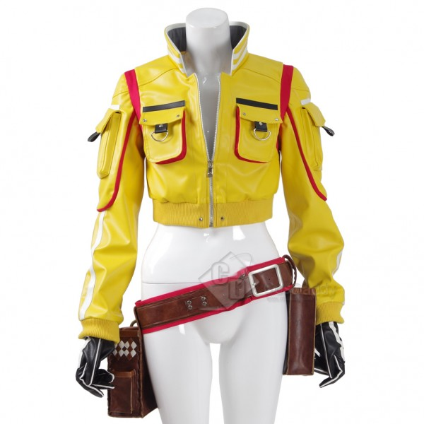 CosDaddy Final Fantasy XV Cindy Aurum Cosplay Jacket Holster Bag Gloves Shorts Halloween Costume