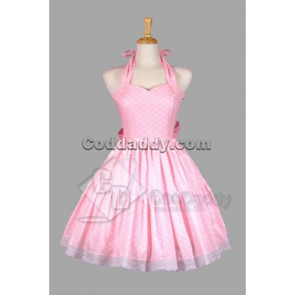 Pink Cotton Sweet Lolita Dress Cosplay Costume