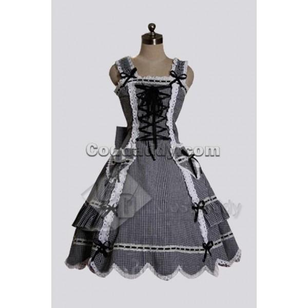 Vintage Gothic Lolita Gingham Bodice Corset & ...