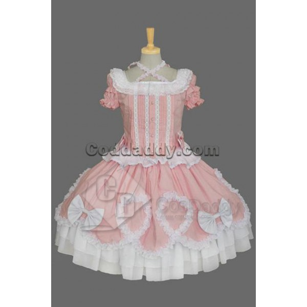 Gothic Lolita Short-Sleeve Maid's Uniform Dress Pi...