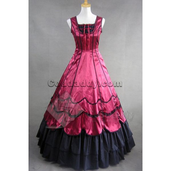 Civil War Gothic Southern Belle Ball Gown Dress Cosplay Costume